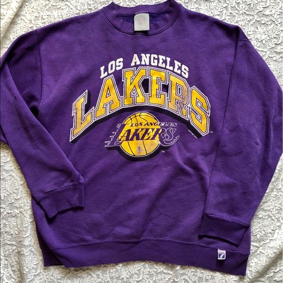 sale retailer 074b8 b6ddb Vintage distressed L.A. Lakers sweatshirt